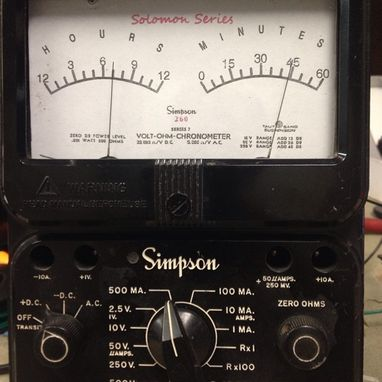Custom Made Analog Meter Clock In A  Simpson 260 Meter Housing