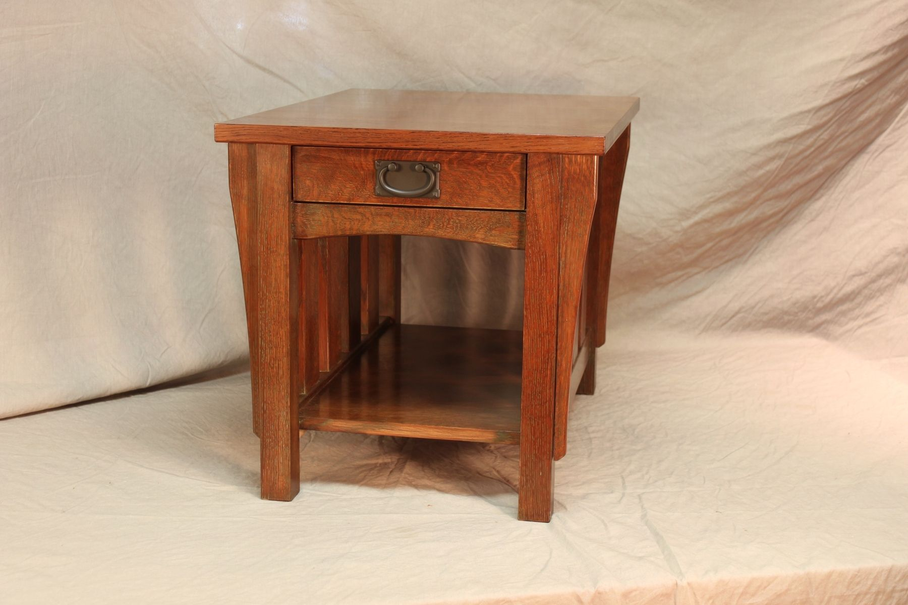 Custom Stickley Style Oak End Table By Blue Hill Cabinet