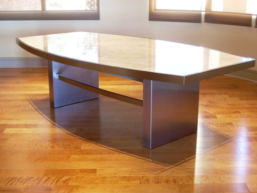 Custom Made Stainless And Stone Table