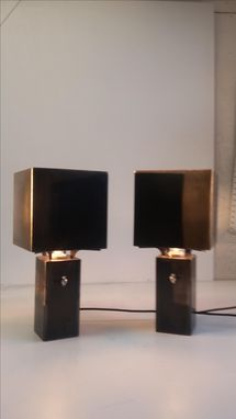 Custom Made Graf Spee Table Lamp Pair