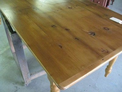 Custom Made Cottage Style Pine Farm House Table
