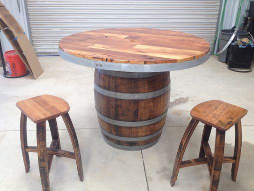 Custom Made Wine Barrel Umbrella Table Set by Wyld at Heart Customs ...