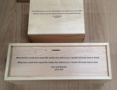Custom Made Jewelry Box + Wine Box