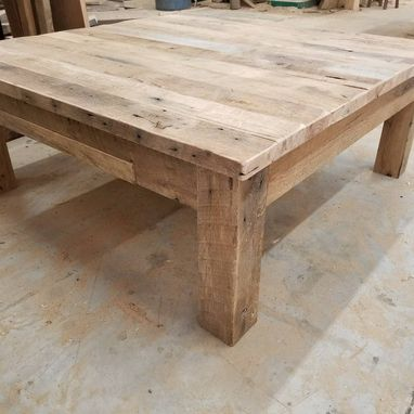 Custom Made Reclaimed Barnwood Square Coffee Table, With Free Shipping