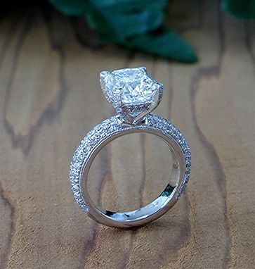 Custom Made Diamond Engagement Ring