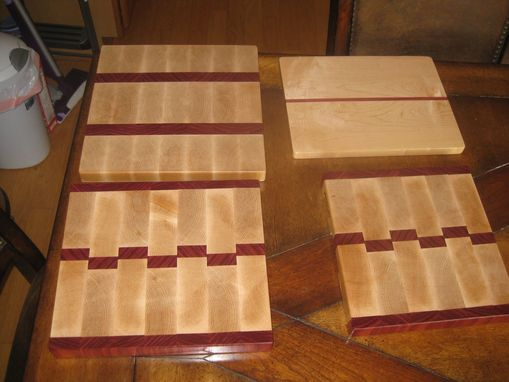 Custom Made Maple And Purpleheart Cutting Boards For Benefit Auction
