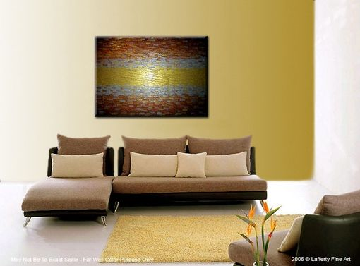 Custom Made Abstract Painting, Palette Knife Art, Large Textured Artwork, Gold Metallic, Modern Impasto
