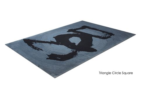 "Custom Made Zen Collection - ""Triangle.Circle.Square."" Brush Strokes As A Zen Inspired Design For Your Home"