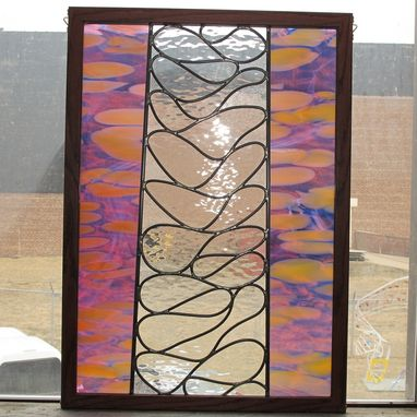 Custom Made Abstract Stained Glass Hanging Window
