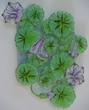 Custom Made Nasturtium Levels - Glass Fusing Artwork