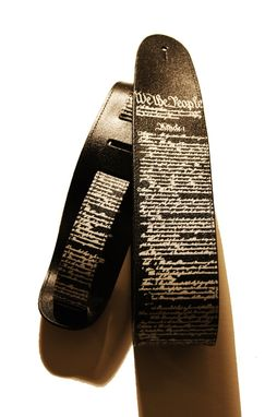 Custom Made Leather Guitar Strap The Constitution
