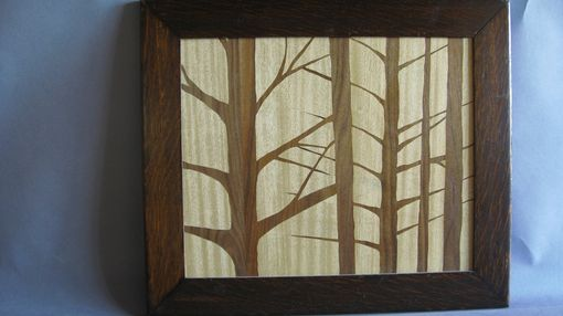 Custom Made Marquetry Landscape, Trees