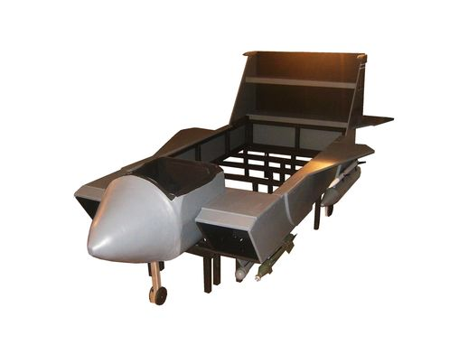 Custom Made F-15 Strike Eagle Twin Bed Frame