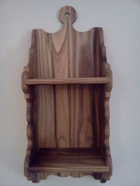 Custom Made Reclaimed Antique Chestnut Wood Shelf