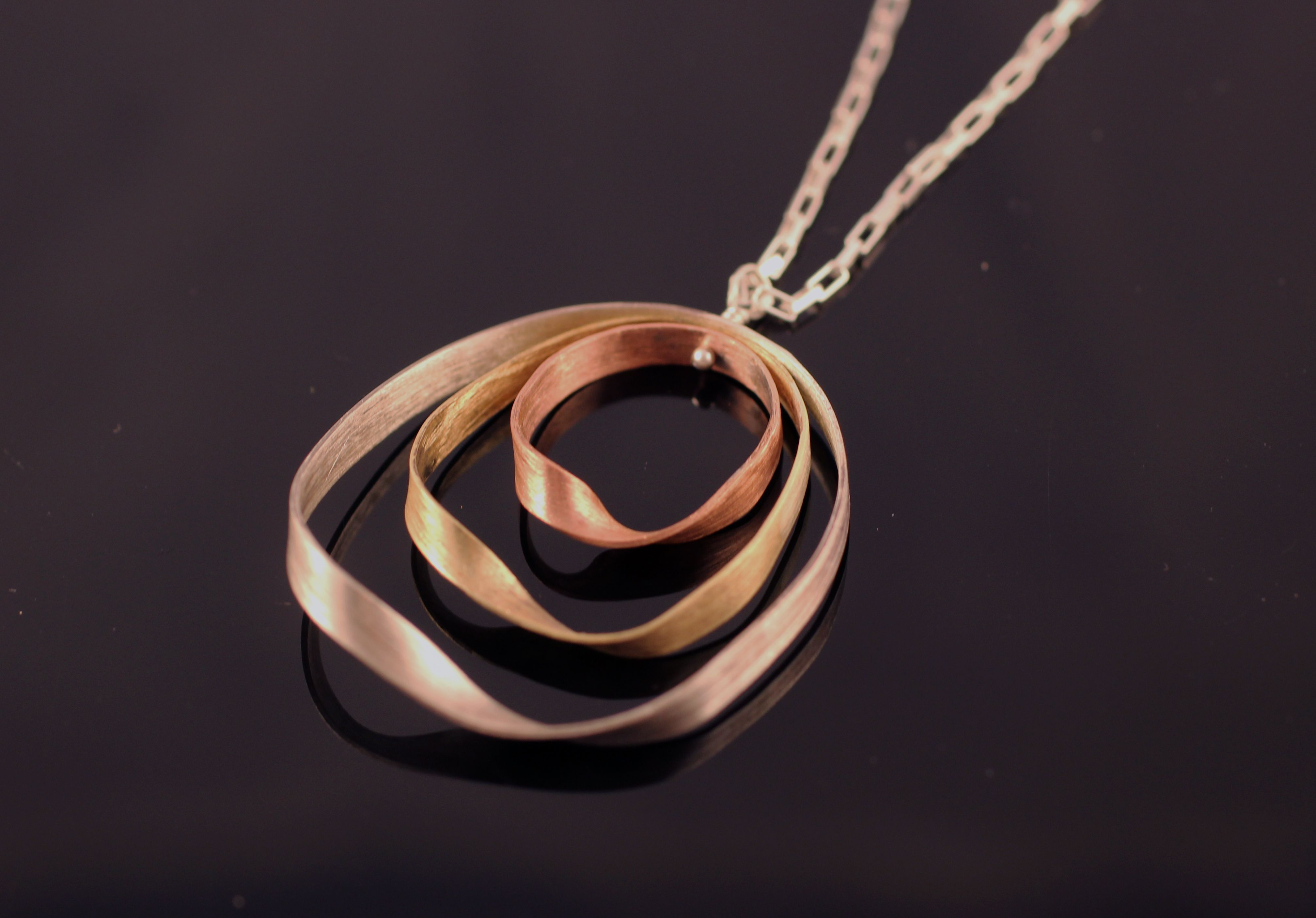 Buy a hand made three color mobius necklace made to order from custom made three color mobius necklace mozeypictures Image collections