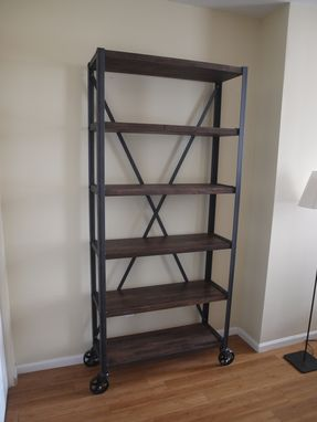 Custom Made Heavy Industrial Bookcase Book Shelf