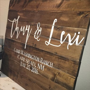 Hand Made 30x30 Wedding Guest Book Wood Sign Alternative
