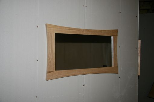Custom Made Chestnut Curved Mirror