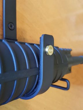 Custom Made Ar15 & M4 5.56 & .223 Caliber  (1 Pr) Wall Mount Gun Racks Gun Hooks Rifle Hangers Hooks, Felt Lined
