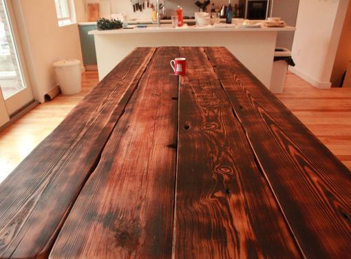 Custom Made Custom Farmhouse Dining Table And Benches For Kitchensurfing.Com