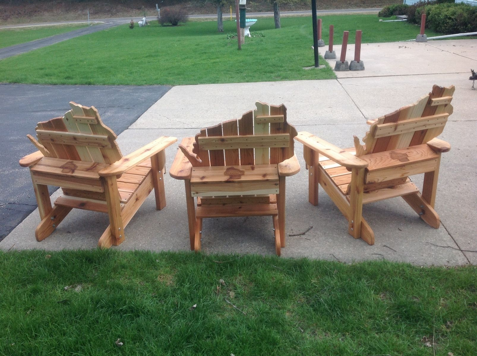 Adirondack Cedar Chairs handmade cedar adirondack wisconsin chairs with personalized laser