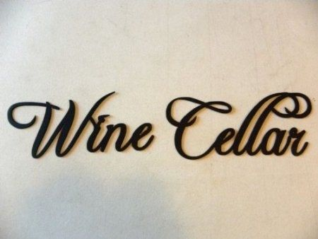 Custom Made Wine Cellar Wine Word Home Kitchen Decor Metal Wall Art
