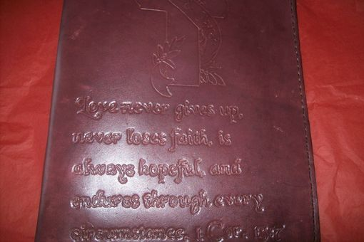 Custom Made Custom Leather Executive Day Planner
