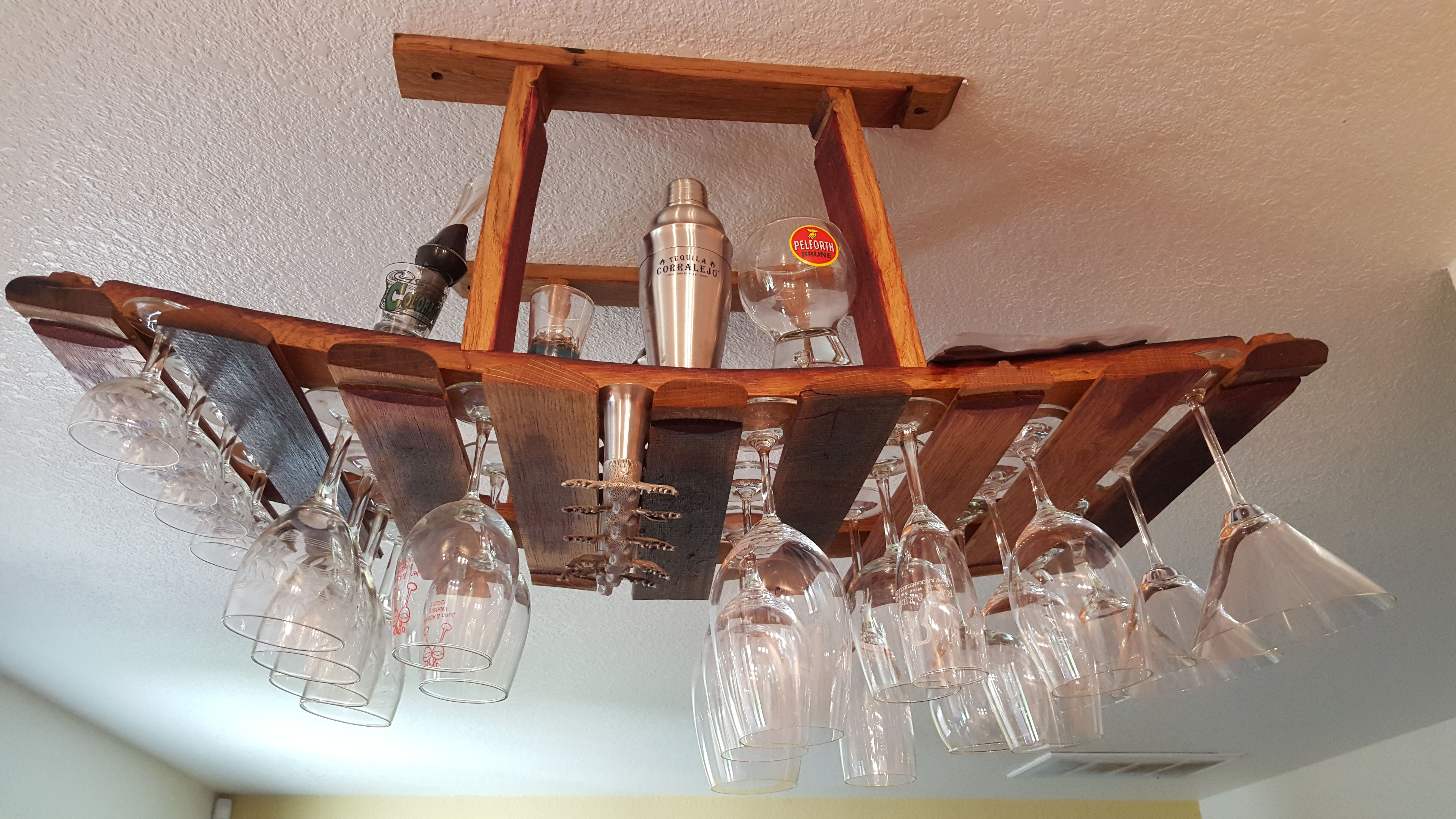 to handmade wine order racks a glass barrel light designs rack hanging made