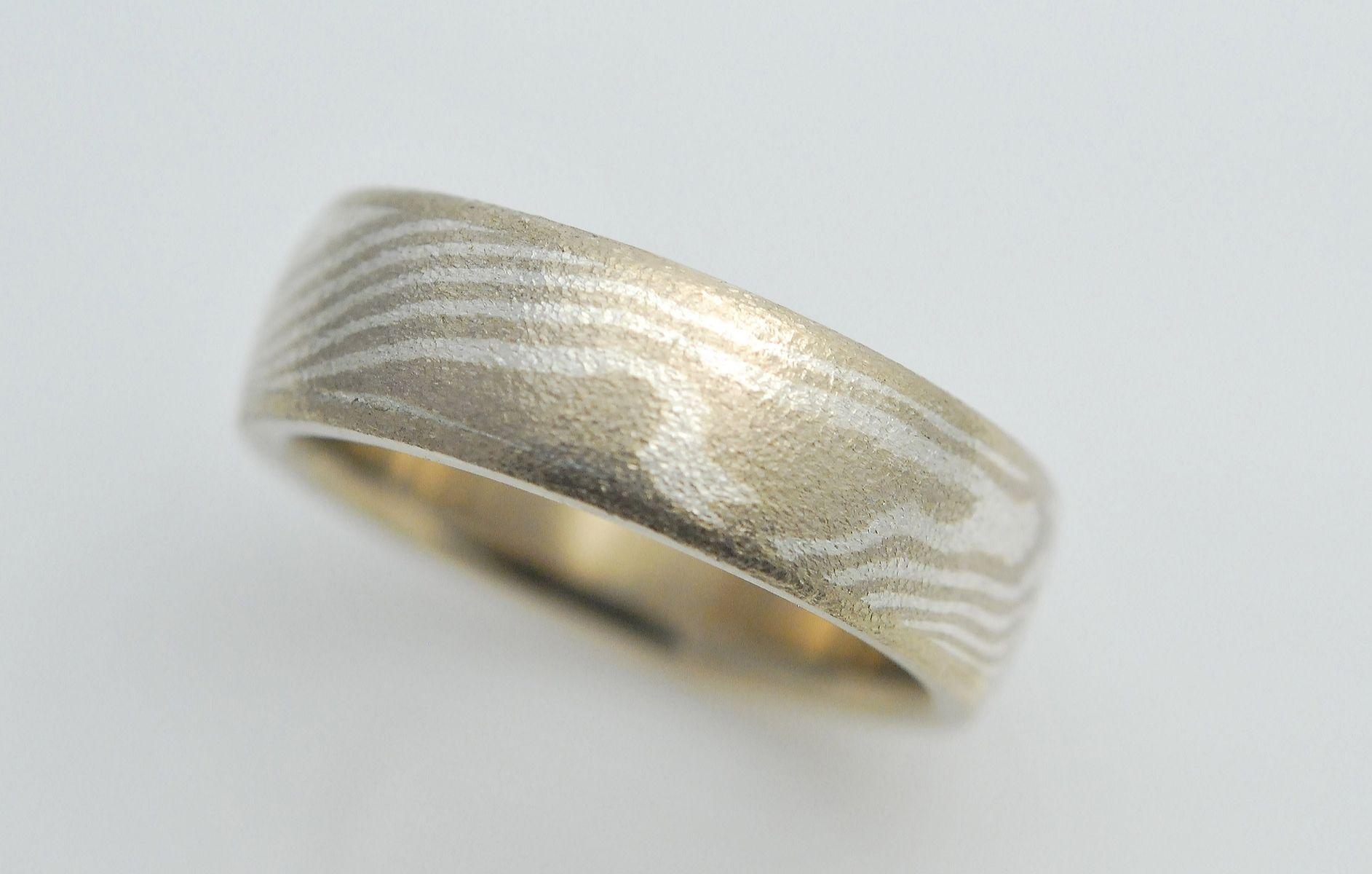 Custom Made 14k Palladium White Gold With Sterling Silver Moe Gane Ring