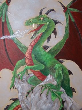 Custom Made Dragon Mural