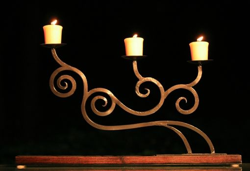 Custom Made Scroll Work Candle Holder