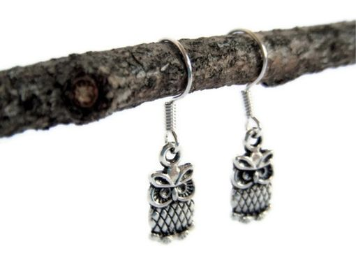 Custom Made Tiny Silver Owl Earrings