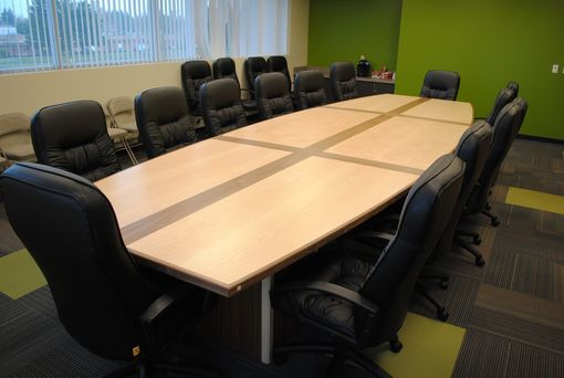 Custom Made Boat Style Conference Table
