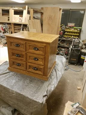 Custom Made Oak Storage Cabinet