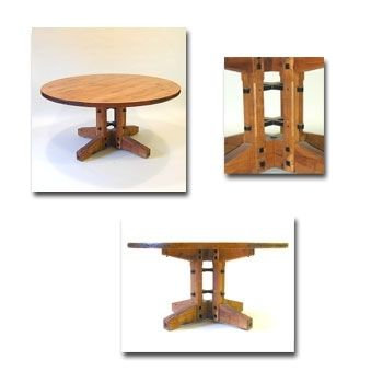 Custom Made Mountain Mission Round Dining Table
