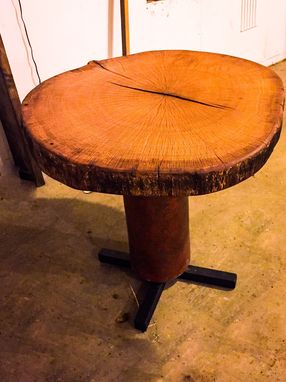 Custom Made Live Edge Round Table