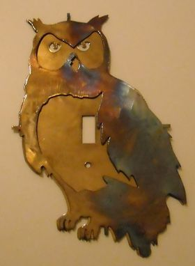 Custom Owl Light Switch Plate Cover By Superior Iron Artz