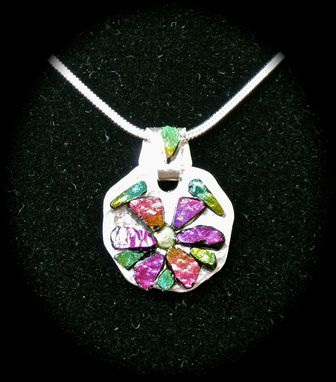 Custom Made Sterling Silver Flower Pendant