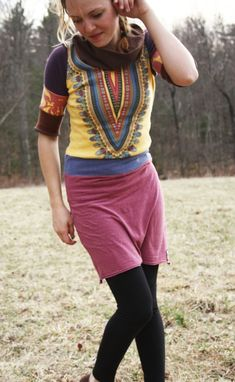 Custom Made Sun Goddess - Eco/Upcycled Tunic Dress - Size Small (4/6)