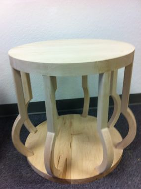 Custom Made Basket Side Table