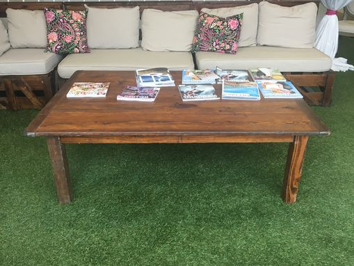 Custom Made Pine Wooden Coffee Table