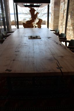 Custom Made 11-Ft Spalted-Maple Table With Steel Base