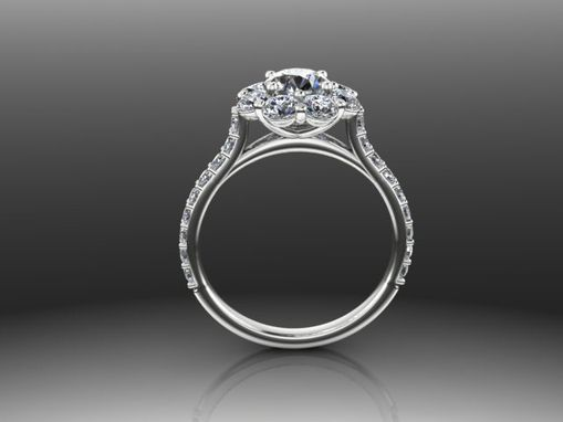 Custom Made Aiko Diamond Engagement Setting (Center Not Included)