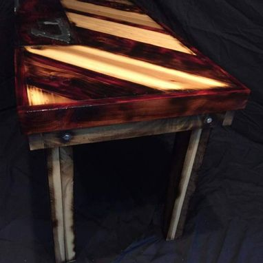 Custom Made Weathered Cedar And Aluminum Amalgamation Coffee Table