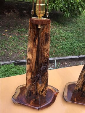Custom Made Custom Table Lamps From Exotic Woods