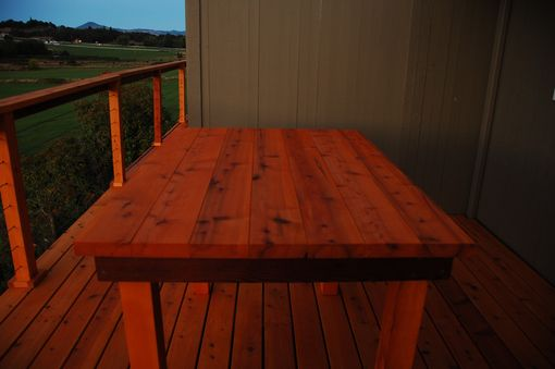 Custom Made Sturdy Cedar Bar Height Table