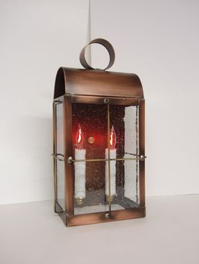 "Custom Made Outdoor Solid Copper Lantern ""Skipper Lantern"""