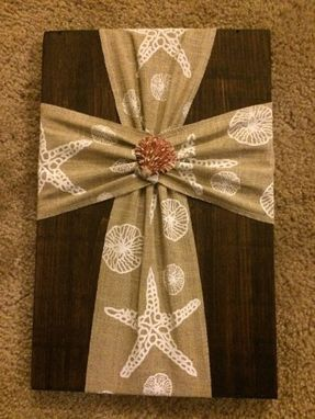 Custom Made Decorative Cross Decor Made With Reclaimed Wood With Dark Walnut Stain