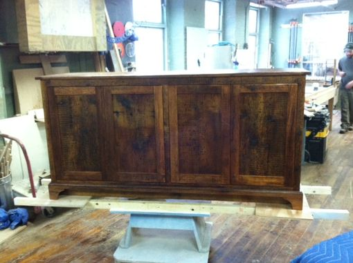 Custom Made Reclaimed Media Center / Entertainment Center Cabinet