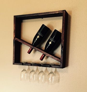 Custom Made Reclaimed Wine Rack